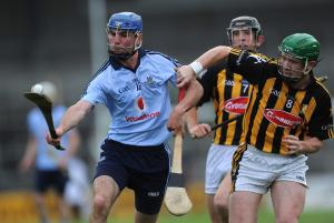 23 June 2010; Daire Plunkett, Dublin, in action against Paul Murphy, Kilkenny. Bord Gais Energy Leinster GAA Hurling Under 21 Championship Semi-Final, Kilkenny v Dublin, Nowlan Park, Kilkenny. Picture credit: Brian Lawless / SPORTSFILE